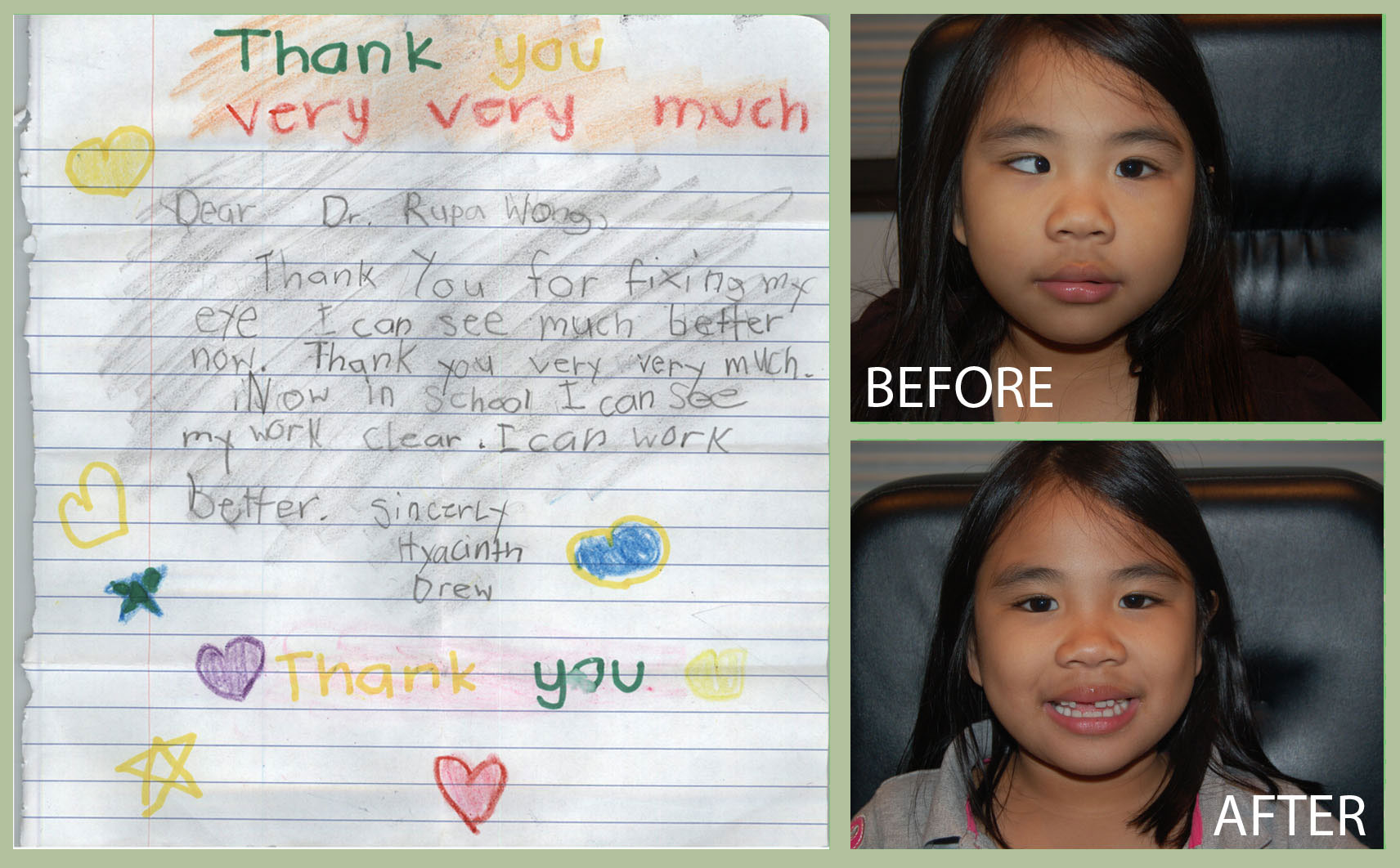 Hyacinth thank you letter