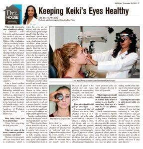 Keeping Keiki's Eyes Healthy article