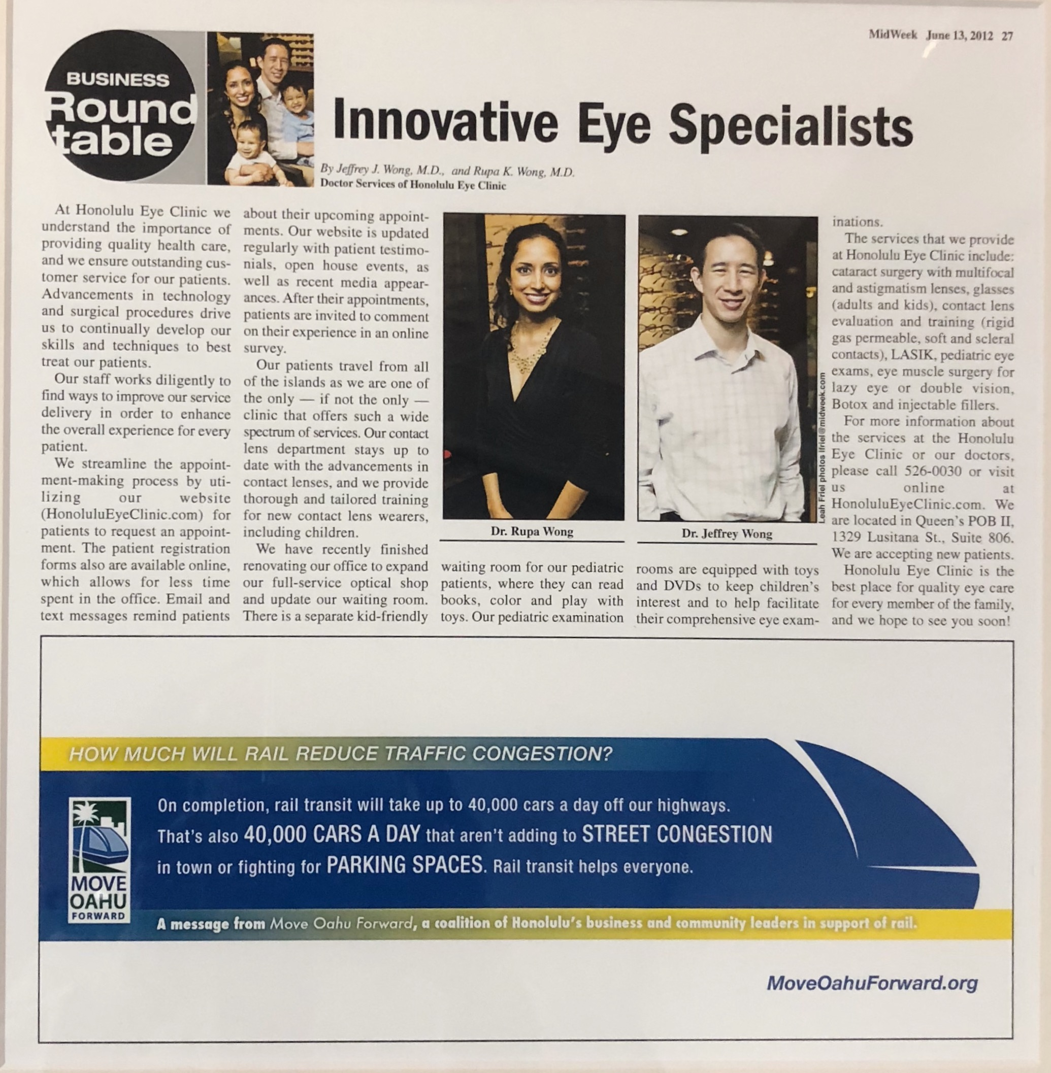 Innovative Eye Specialist article