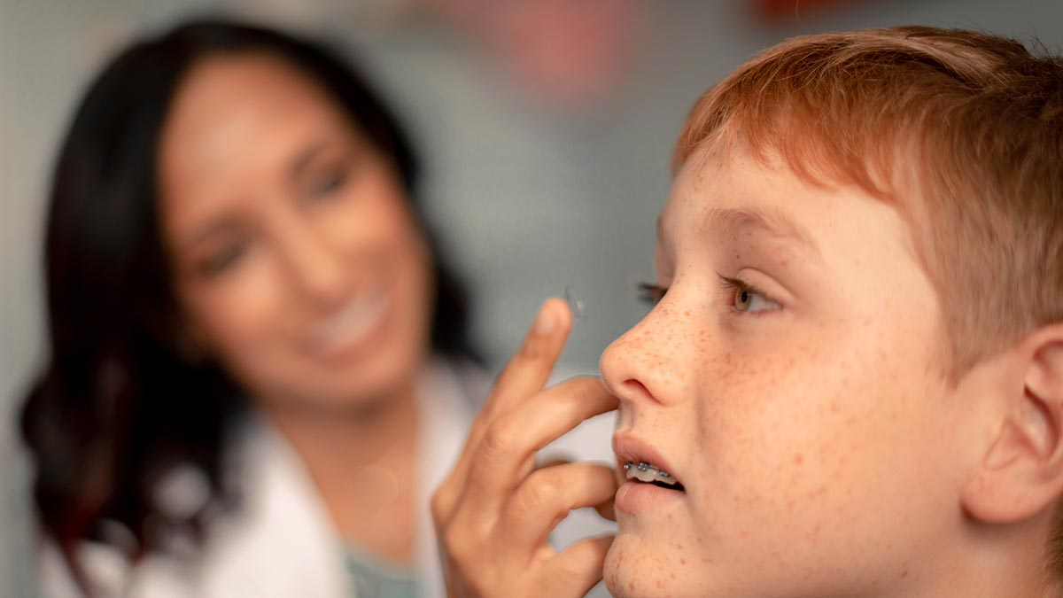 Contacts for kids with myopia
